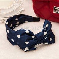 big bow headbands for women - MisS Linda Lovely Big Dot hairbands headbands for women handmade cloth double bow headband bandeaux femmes
