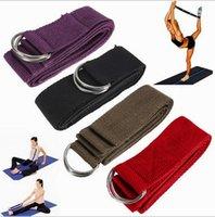 Wholesale 183 cm Long Type Yoga Stretch Strap Training Belt Waist Leg Fitness Gym Gym D Ring Pilates Fitness Figure Waist Leg Belt D2617
