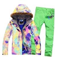 Wholesale Gsou snow ski suit set Women single ski suit thermal thickening Waterproof Windproof