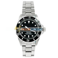 Wholesale Charming Stainless Steel Men s Mechanical Wrist Watch with Date Black Dial