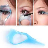 Wholesale 1 Practical Makeup Eye in Mascara Eyelash Applicator Guide Card Comb