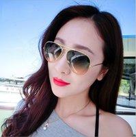 al por mayor gafas de sol baratas-Baratos de marca de 58 mm de metal hombres del capítulo / de las mujeres Gafas de sol del gradiente Color de la lente de cristal de Sun