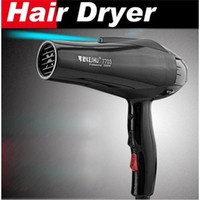Wholesale Styling tools Hair dryer Black professional Anti radiation blow dryer Hot and cold wind W Nano titanium M nozzles hairdryer W