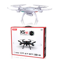 Wholesale Syma Lastest Drone Syma X5SC CH Axis Quadcopter with MP Camera RC Helicopter with retail box free DHL shiping