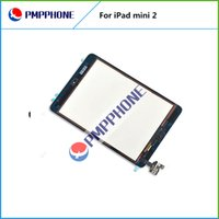 Pour iPad Screen mini2 Touch en verre Digitizer Assemblée avec IC avec Home Bouton autocollant Glue réparation de pièces de rechange Noir Blanc