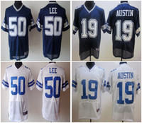 football jerseys - Men Cowboys Discount American Football Jerseys Sean Lee Miles Austin White blue Elite Cheap embroidery logo Mix Order