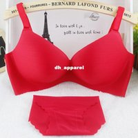 Bra Sets bra and panty - New Brand Underwear Vs Secret Women Bra Set Female Sexy Seamless Bra And Panty Set Plus Size Fashion Push Up Bra Lingerie