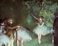 Oil Painting ballet sample - Ballet sample II by Edgar Degas oil Painting Canvas Dancers High quality Hand painted