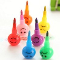 Wholesale Smile Pen Colorful WaterColor Smiley Cartoon Pens Pencil Markers Children Toys Gifts Painting pens colors
