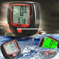 Wholesale Hot Sale LCD Cycling Bike Bicycle motorcycle Computer Odometer digital speedometer Waterproof Green LCD Backlight