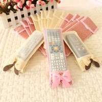 Wholesale Bowknot Lace Remote Control Dustproof Case Cover Bags TV Air Condition Protector