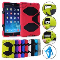 Wholesale For Ipad pro inch Heavy Duty Military Extreme silicone Stand Robot Case Ipad air Mini Samsung Galaxy Inch