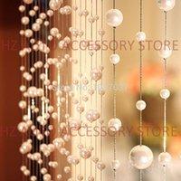 door beads - 10 meters Pearl Acrylic beads curtain can be customized crystal curtain window door curtain passage wedding backdrop