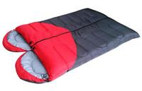Wholesale Hot sale lovers sleeping bag mosaic sleeping bag Waterproof envelope type sleeping bag winter thickening sleeping bag