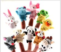 Wholesale New Frozen Finger Puppet Set of Five Stuffed Toys Finger Dolls The variety Optional Baby Kids Educational toy Finger Puppet plush toys