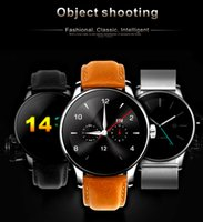 Wholesale Metal SmartWatch Fitness tracker Heart Rate Monitor Compatible Android IOS Phone Remote Camera Round super slim Waterproof K88H smart watch
