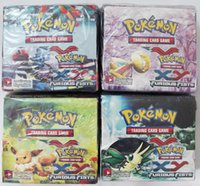 poke toys - Pokemon Trading Card Game XY Black White Best Withes Box Children Card Toys Gifts