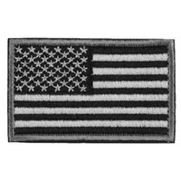 american flag patch - Grey Punisher Skull American Flag Morale D Rectangle Embroidery Tactical Patch Armbands Shoulder Badge Straps Fashion Brand New