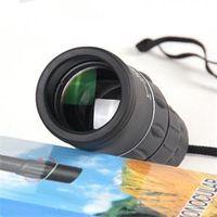 Precio de Lente de enfoque dual-2014 Nuevo aire libre Deportes Viajes Verde óptica de la lente de 16 x 52 Dual Focus zoom Multicoated Óptica telescopio monocular