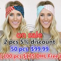 bandana usa - New American Flag Headband th of July USA Turban Stretch Headbands Bandana Turbante Hair Accessories A0394