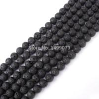 Wholesale DIY Necklace Bracelet Jewelry Making Fashion mm Round Shape Black Lava Rock Loose Pretty Beads Strand quot
