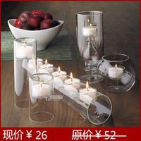 wedding candelabra - Glass candlestick candlestick wedding candelabra model room hotel special ornaments send candles