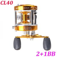 Wholesale Full Metal BB Ball Bearings Right Hand Drum Wheel Boat Sea Fishing Reel Horizontal CL40 Golden
