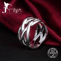 925 anillos de la plata esterlina anillos de la manera ahueca hacia fuera la venta al por mayor 2016 del precio de fábrica del anillo de plata del diseño