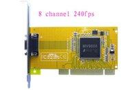 Envío libre 2015 la venta caliente nuevo al por mayor de 8 canales DVR PCI d1recording tarjeta de captura de vídeo de la cámara de seguridad CCTV 240fps
