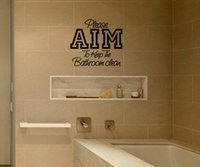 aim art - Please AIM To Keep The Bathroom Clean Removable Art Vinyl Quote Wall Sticker Decal Mural Home Decoration