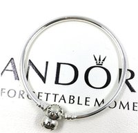 Wholesale 2015 New Arrival Charm Bangle Sterling Silver Bracelet Fit European Charms Beads CM Length DIY Jewelry