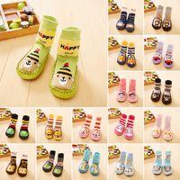 18Styles Cute Baby Lovely Unisex Garçons Filles Chaussettes Anti-Slip Nouveau-né Animal Cartoon Chaussures Chaussons Bottes 0-2Y