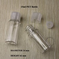 lotion containers - 15ml PET Transparent Perfume Emulsion Bottle Plastic Bottle Cosmetic Packaging Lotion Container Transparent Screw Lid