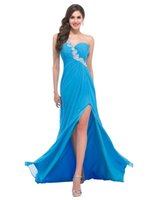 dress one size - 2015 New Custom Made Available In Any Color Size A Line Fashionable Prom Dress Sexy Beads Elegant Chiffon Evening Dress