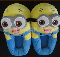 Wholesale 18 OFF Length CM cartoon slippers quot D Despicable ME Minion Stewart Figure Shoes Plush TOY Slipper Doll 2 pairs HB