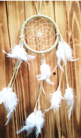 Wholesale 18 OFF Free EMS DHL White Dreamcatcher Wind Chimes Indian Style Feather Pendant Dream Catcher Gift Dream catch wind chimes ZM