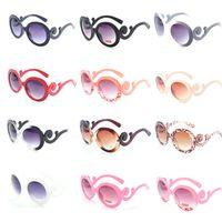 baroque sunglasses wholesale - New Designer Inspired Round Fashion Sunglasses Women Baroque Swirl Arms Sun Glasses Women Fashion sunglass