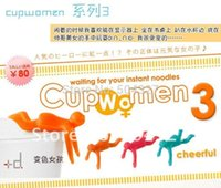 Cheap Free Shipping 10Pieces Cupmen 3 Cupwomen Instant Noodle Figure Set of Three Cup ramen readiness indicators