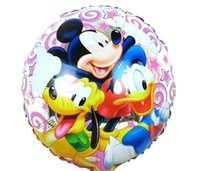 baby shower ducks - 15pcs inch Donald Duck Mickey Balloons Happy Birthday ballons Baby Shower globos