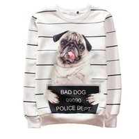 bad dog clothing - w1208 Alisister Newest men women s Harajuku D sweatshirts printed bad dog hoodie clothing funny crewneck d animal dog sweatshirt