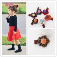 fabric korea - Children jewelry kids clothes accessories hairpin ofing velvet korea edition baby hair headbands hair clips headbands fabric flowers AS176