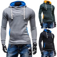 Wholesale 2015 new fashion casual Slim male taxi velvet hooded hedging sweater M XXL