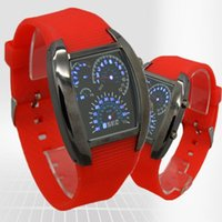 Wholesale 30pcs promotional men s car led watch colors leather band and frame sale sale