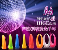 Wholesale Sound Controlled Voice vibration Controlled activated LED Light Up Bracelet Bangle glow for Night Club Activity Party Bar Music Concert