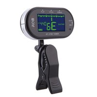 Clip-on backlit screen - New Arrival Clip on Electric Tuner Clip Mic Tuning Way Guitar Tuner Backlit LCD Screen for Chromatic Guitar Bass Violin Viola DHL I810