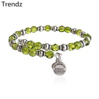 Wholesale Alex and Ani Lime Souk Wrap Green Crystal Beaded Bracelets Russian Silver Stainless Steel Expandable Wire Charms Bangle From China AA201533