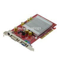 agp geforce - NEW nVIDIA GeForce FX6200 MB AGP TVO VGA DVI display Graphic Card