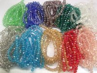 Wholesale Diy Handmade Jewelry String Loose Bead mm Color AB Faceted Glass Crystal Beads Multi Colors Pick