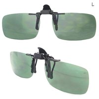 night vision glasses - 2015 Clip on Lens Flip up Day Night Vision Sunglasses Driving Glasses Clip Size S L MPJ144