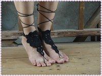amazon sandals - Amazon Europe AliExpress beach wedding crochet anklet barefoot sandals anklet with crochet bikini Y